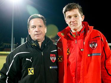 Wieder vereint: Werner Gregoritsch mit seinem Sohn Michael