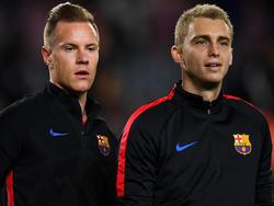 Jasper Cillessen vom FC Barcelona (r.) ein Thema beim FC Bayern?