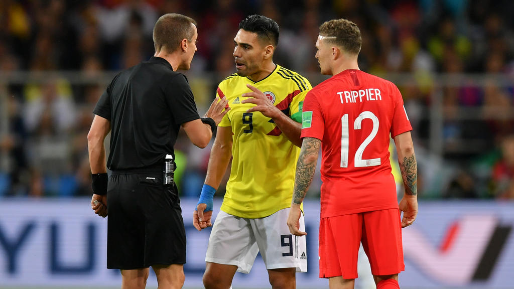 Radamel Falcao hat den Schiedsrichter heftig attackiert