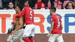FSV Mainz 05 bejubelt den Klassenerhalt in der Fußball-Bundesliga
