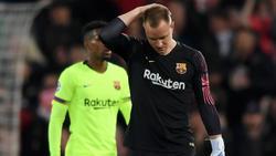 Marc-André ter Stegen und der FC Barcelona erlebten ein Fiasko