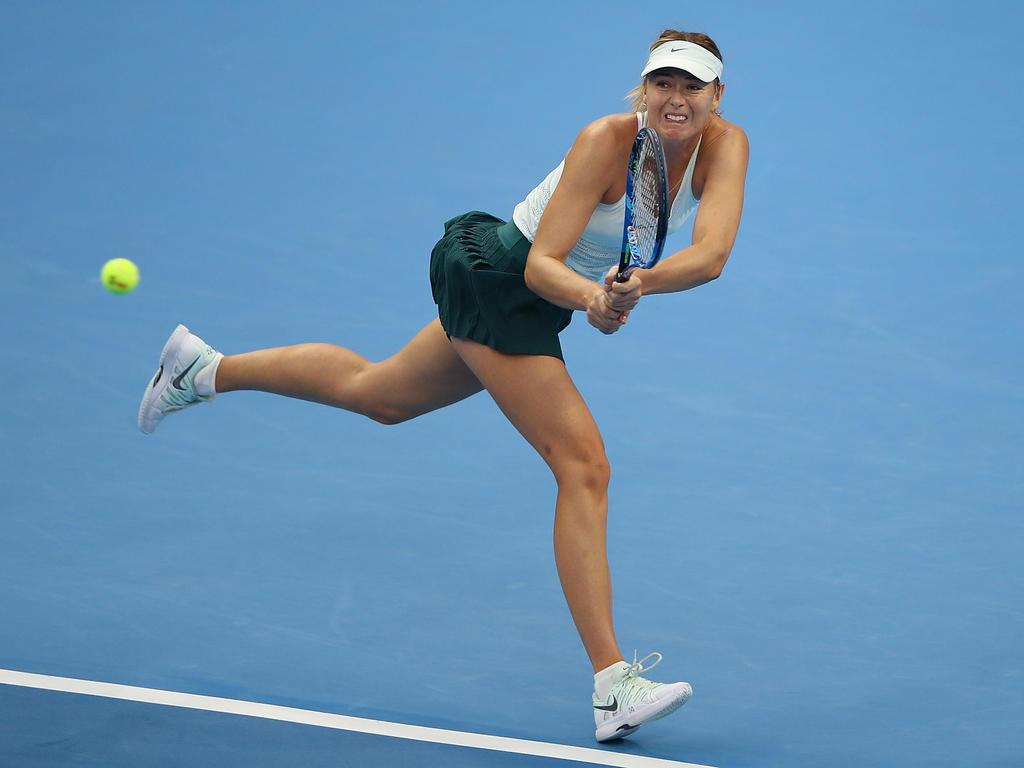 Sharapova bezwang die Schweizerin Stefanie Vögele