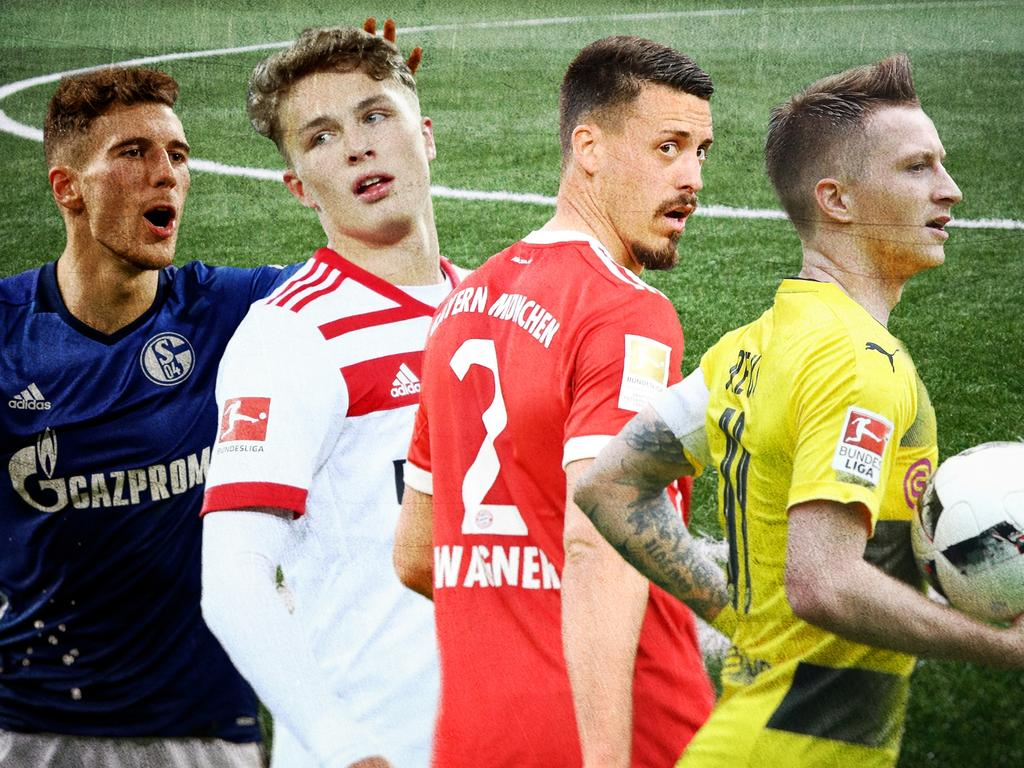 Players to watch (v.l.): Leon Goretzka, Fiete Arp, Sandro Wagner, Marco Reus