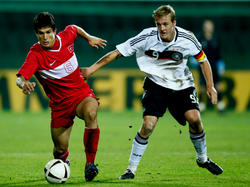 Felix Kroos in der U19-Nationalmannschaft