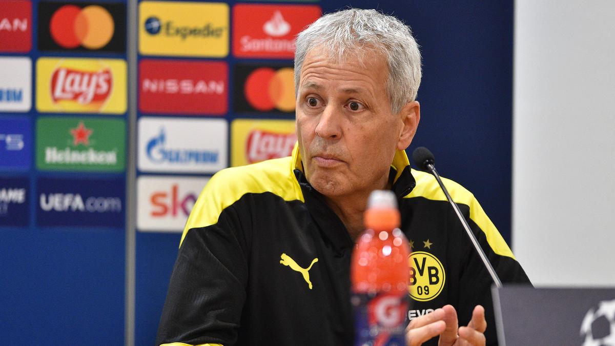 BVB-Cheftrainer Lucien Favre äußerte sich vor dem Spiel gegen Lazio Rom