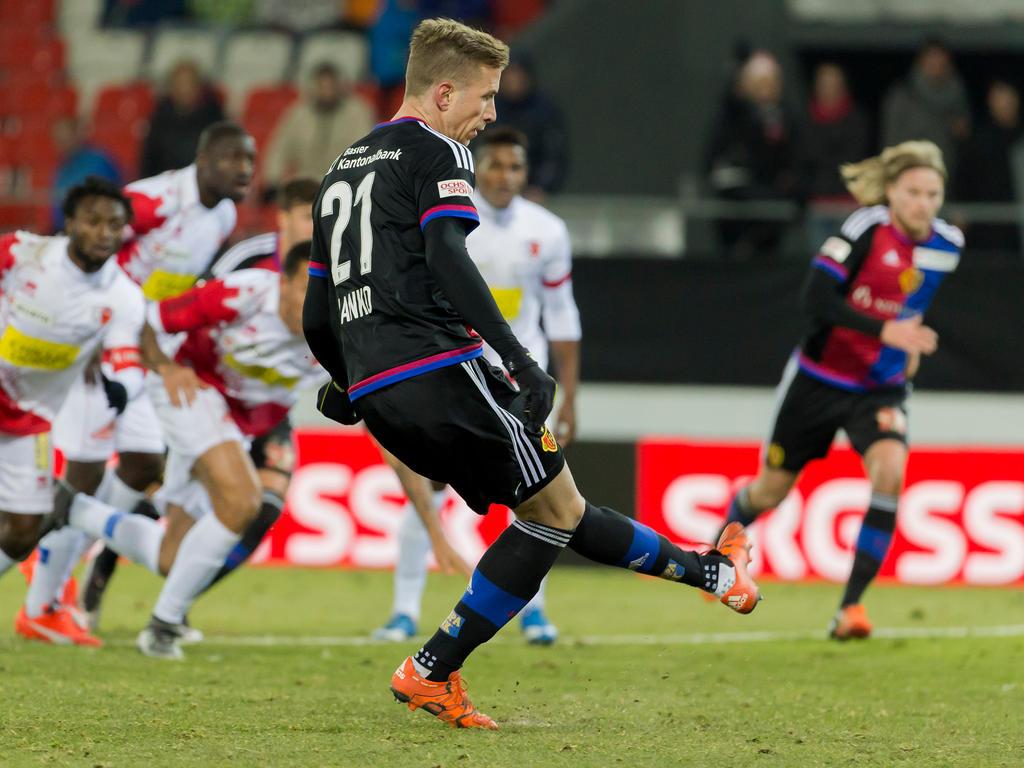 Marc Janko traf gegen den FC Sion zwei Mal vom Elferpunkt
