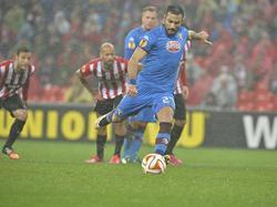 Quagliarella abrió el marcador de penalti en un partido jugado bajo una intensa lluvia. (Foto: Imago)