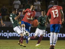 México y Costa Rica jugaron un duelo muy disputado. (Foto: Imago)