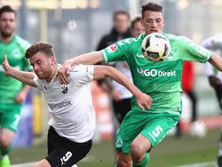 In der abgelaufenen Spielzeit war Rapp (r.) an die SpVgg Greuther Fürth ausgeliehen