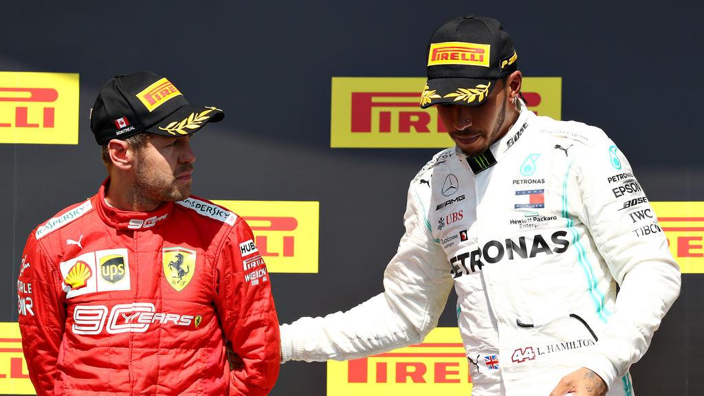 Lewis Hamilton (re.) will Sebastian Vettel nicht abschreiben