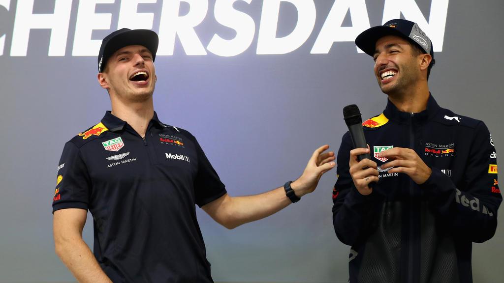 Max Verstappen und Daniel Ricciardo hatten zusammen eine Menge Spaß