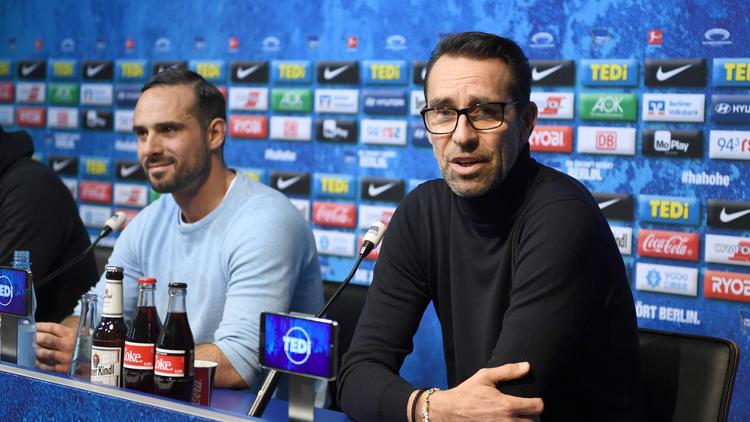 Michael Preetz fand auf der Pressekonferenz von Hertha BSC deutliche Worte