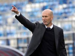 Zidane en el último encuentro liguero de la temporada.