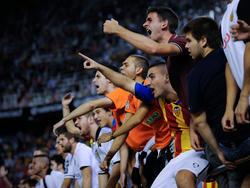 Valencias Fans protestierten gegen das Auftreten der Mannschaft