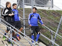 Rafael van der Vaart (r) trainierte wieder mit der Mannschaft