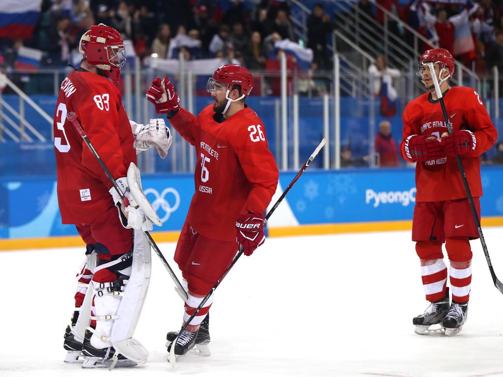 Die Russen stehen im olympischen Halbfinale