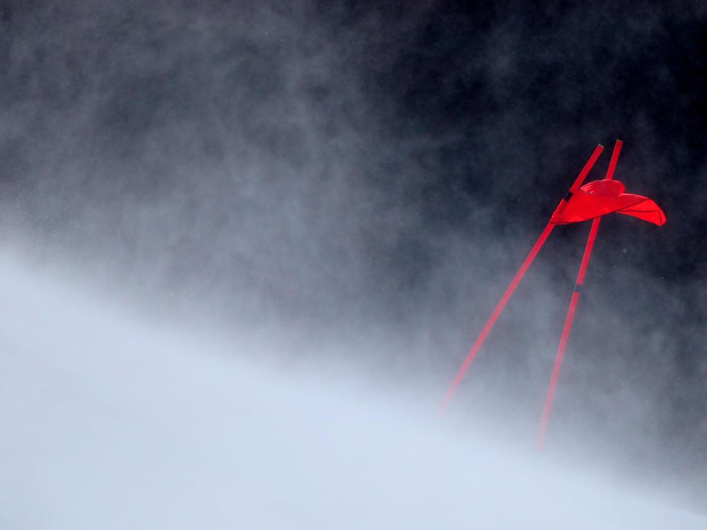 Das Slalomrennen der Frauen musste verschoben werden