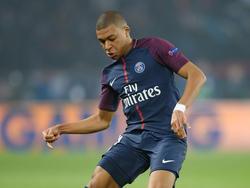 Kylian Mbappé no celebró su gol, el cuarto de los parisinos. (Foto: Getty)