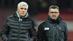 Nürnbergs Trainer Köllner (re.) will an Spielidee festhalten