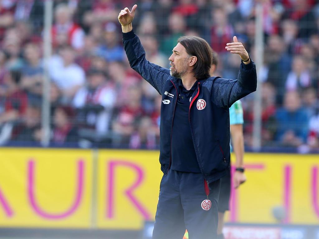 Martin Schmidt bedankte sich bei den Fans der Mainzer