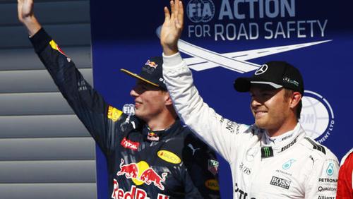 Max Verstappen kam Nico Rosberg nach dessen Meinung häufiger zu nah