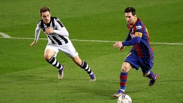 Lionel Messi erzielte das goldene Tor für den FC Barcelona