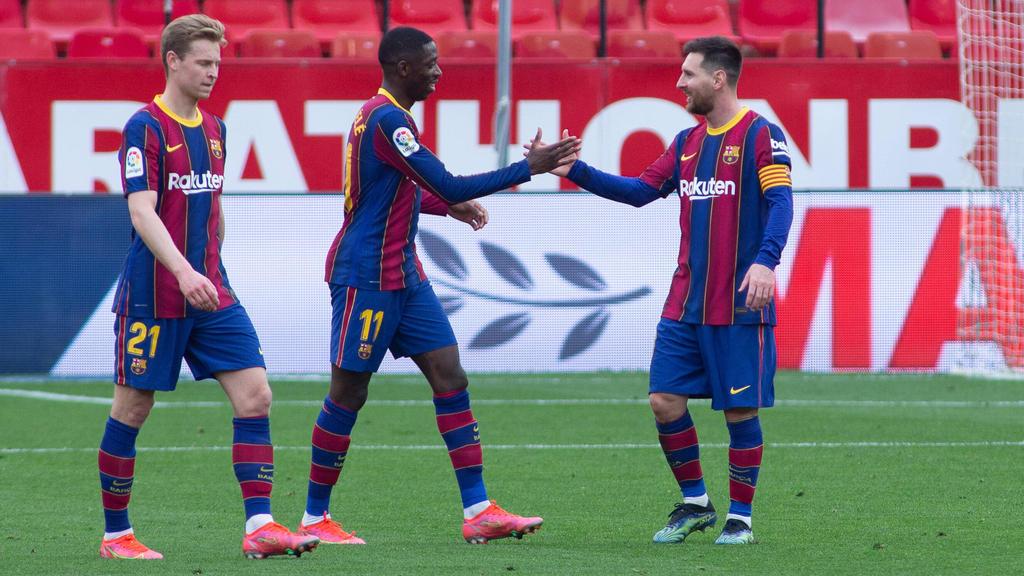 Dembélé und Messi trafen für Barca