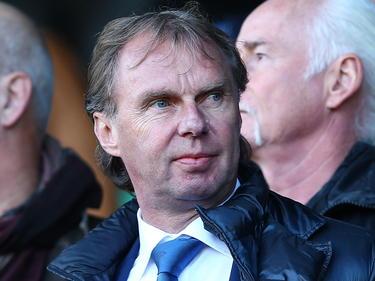 Als technisch adviseur van VVV-Venlo is Stan Valckx steeds vaker aanwezig bij de Limburgers. De oud-voetballer bekijkt hier de wedstrijd NEC - VVV-Venlo in de Jupiler League. (09-11-2014)