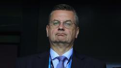 DFB Präsident Reinhard Grindel plädiert für Geschlossenheit im DFB-Team
