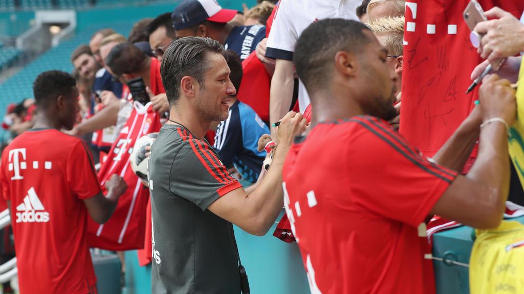 Für Bayern-Trainer Niko Kovac stehen in den USA anstrengende Tage bevor