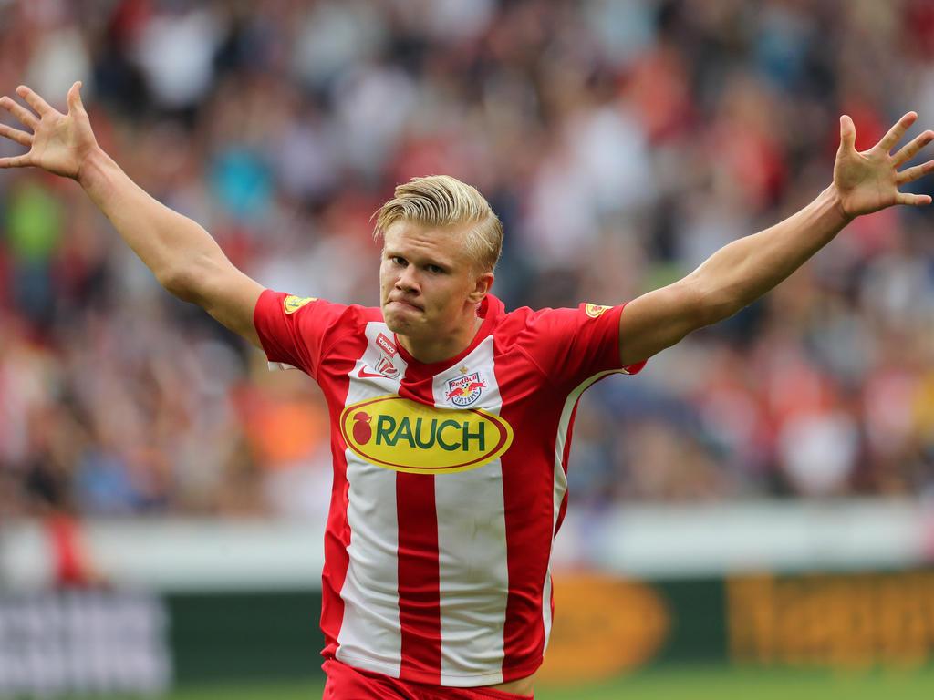 Erling Håland traf gegen den SKN doppelt