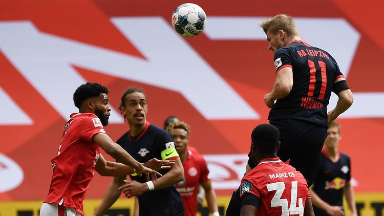 Timo Werner traf für RB Leipzig dreifach in Mainz
