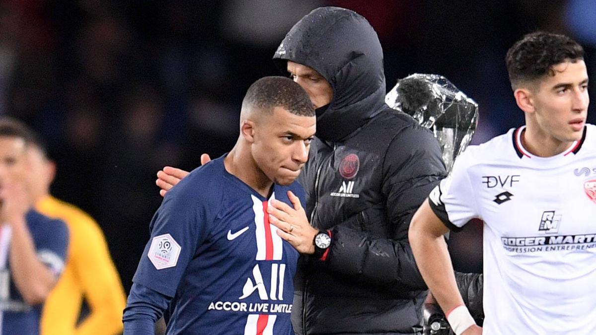 Muss gegen Bergamo wohl passen: PSG-Star Kylian Mbappé
