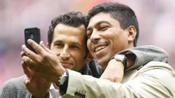 Giovane Élber (r.) und Hasan Salihamidzic (l.) feierten mit dem FC Bayern durch