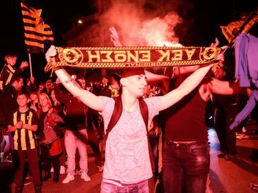Grenzenloser Jubel bei den Fans von AEK Athen