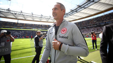 Eintracht-Coach Adi Hütter freut sich auf das erste Heimspiel in der Europa League