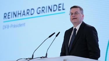 Reinhard Grindel sprach auf dem Amateurfußball-Kongress