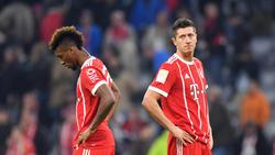 Kingsley Coman (l.) und Robert Lewandowski sollen im Training des FC Bayern aneinander geraten sein