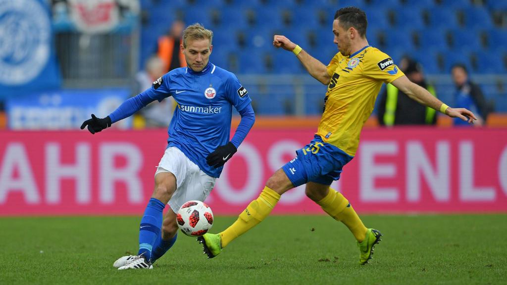 Stefan Wannenwetsch (l.) verlässt Hansa Rostock