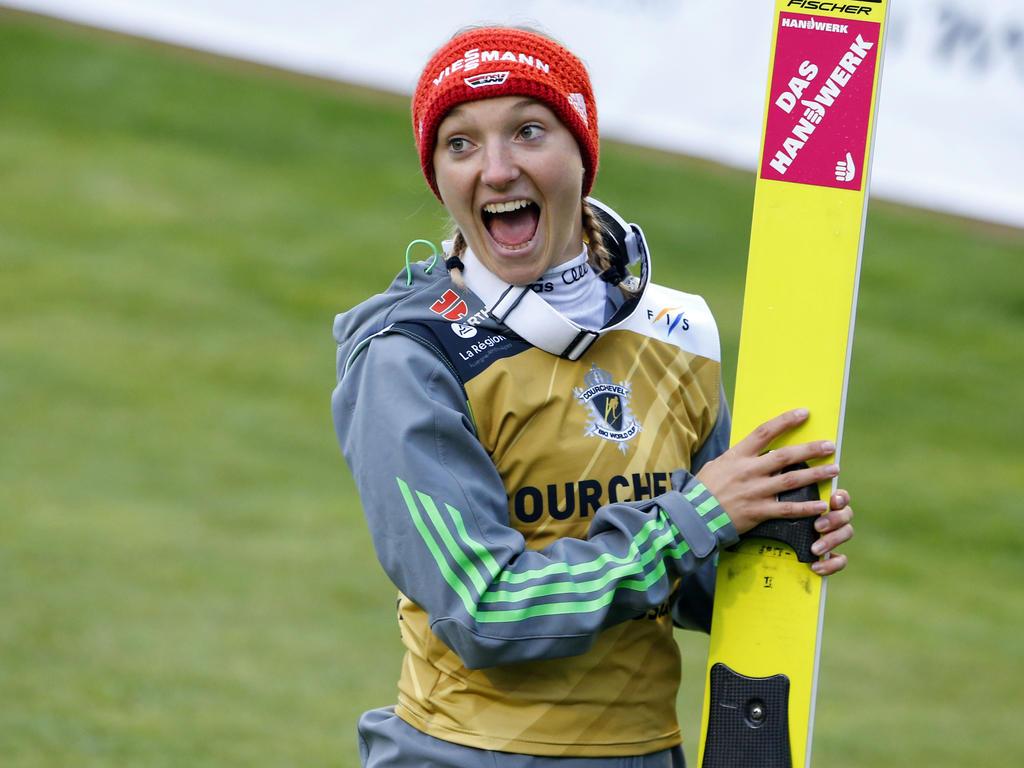 Katharina Althaus hat ihren zweiten Weltcupsieg gefeiert