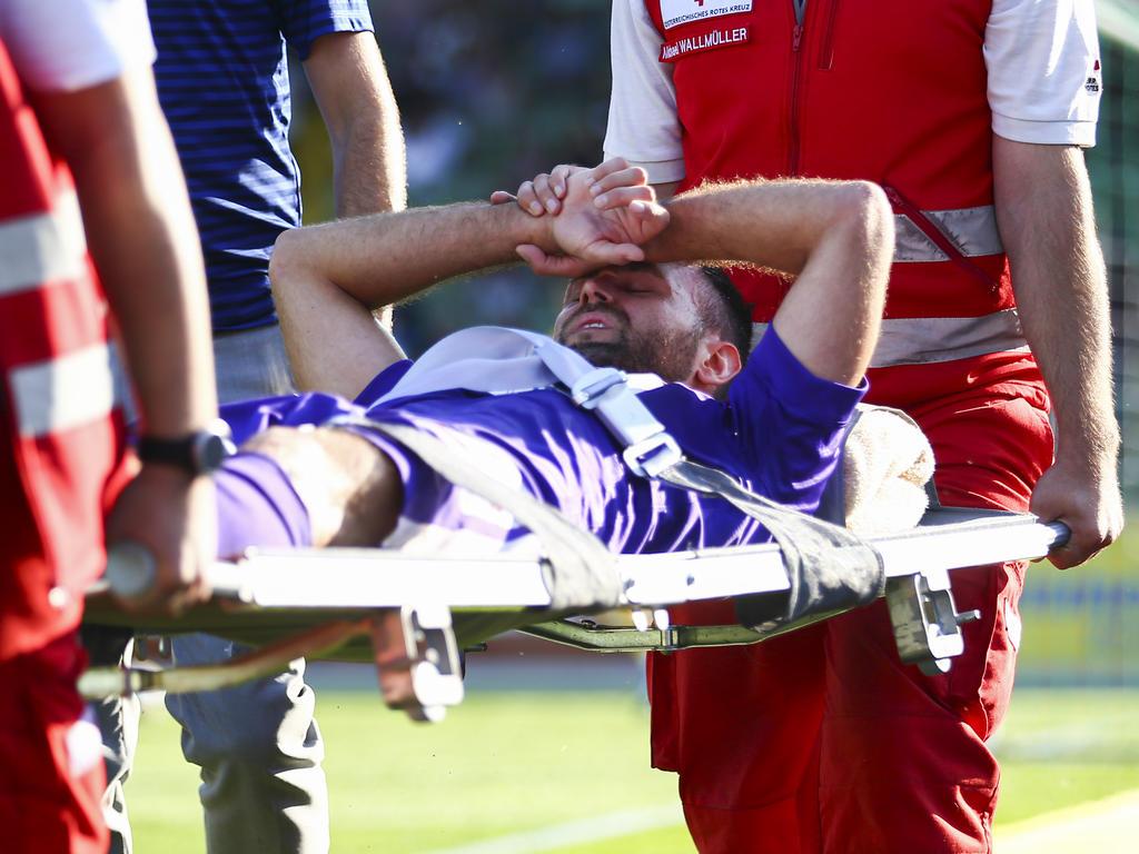 Michael Madl verletzte sich in Mattersburg am Knie