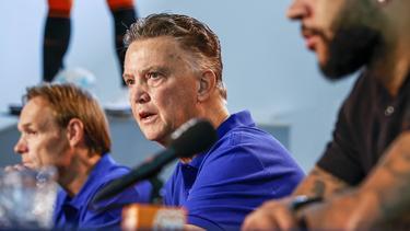 Der frühere Bayern-Coach Louis van Gaal war mal wieder auf Kontrontationskurs