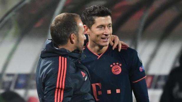 Bayern-Trainer Flick schwärmt von seinem Stürmer Lewandowski