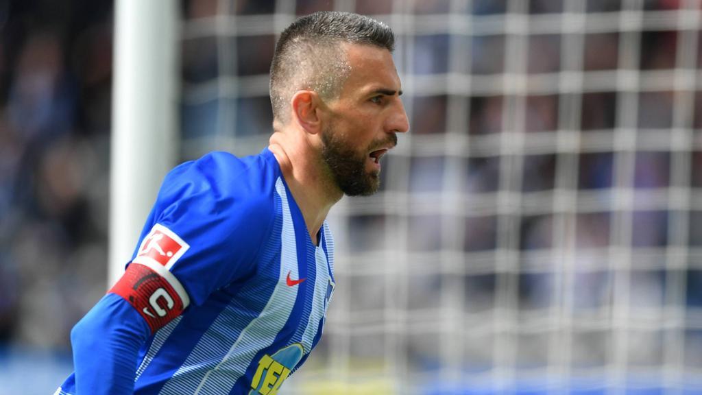 Ibisevic hatte mit Hertha BSC gleich viermal Grund zum Jubeln