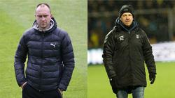 Werner (li.) ist offenbar Trainerkandidaten bei Werder Bremen, Zorniger wohl nicht mehr