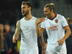 Daniele de Rossi (l.) und Federico Balzaretti von der AS Roma