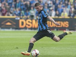 Maxime Lestienne in actie voor Club Brugge.
