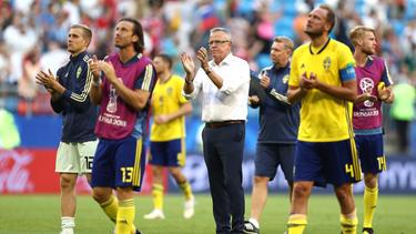 Schwedens Trainer Janne Andersson mit gemischten Gefühlen