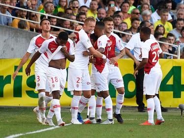 El Mónaco celebra su primera victoria en la Ligue 1. (Foto: Imago)