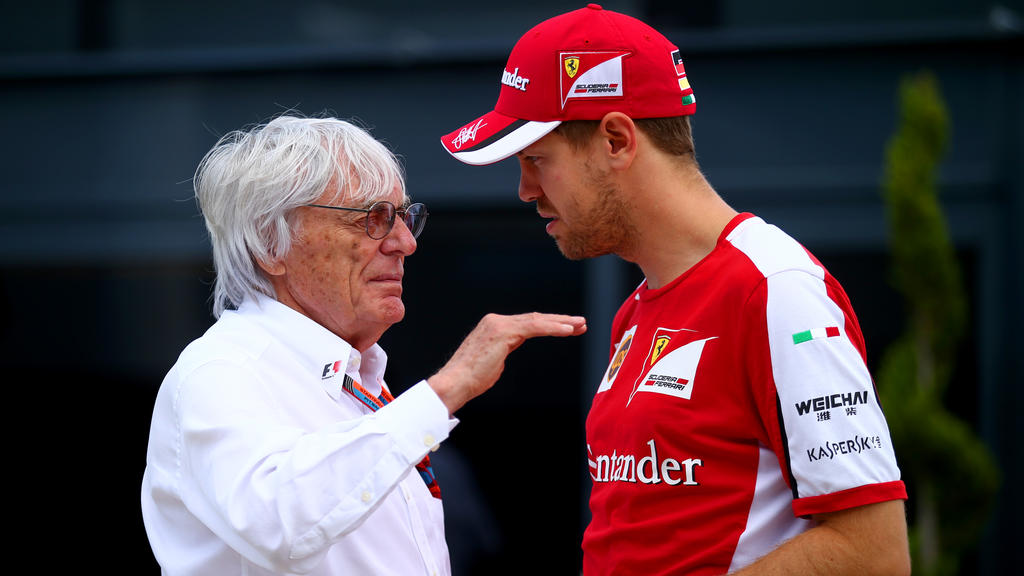Bernie Ecclestone und Sebastian Vettel (re.) haben ein gutes Verhältnis zueinander